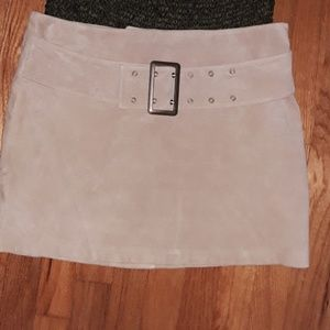 NWOT Victoria's Secret Suede Leather Mini Skirt 12